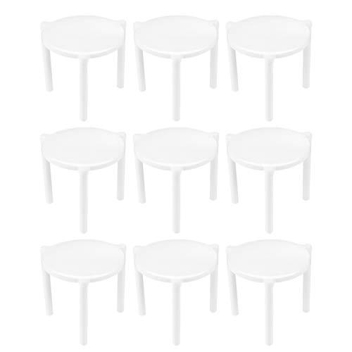 DOITOOL 100 pz Supporto per Pizza Saver Stand Bianco Plastica Treppiede Stack per Ristorante Cibo Take Out Servizio
