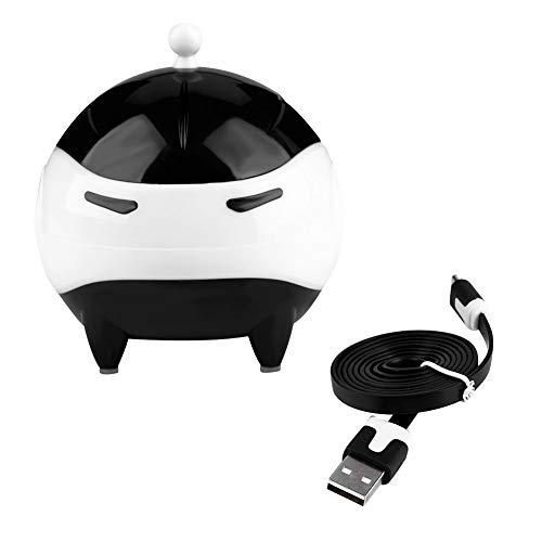 Lavadora Automática de Lentes de Contacto USB Cubierta de Bola de Lentes de Contacto Portátil Lavadora USB Limpiador Automático de Lentes de Limpieza (Negro)