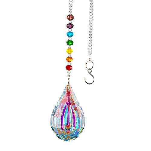 FITYLE Cristal colorido cristal araña colgante libélula Arco Iris crear adorno colgante Chakra árbol ventana prisma ornamento - Colgante de 5cm