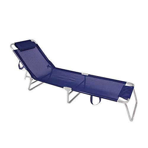 Cadeira Espreguiçadeira Mor Azul Marinho Alumínio
