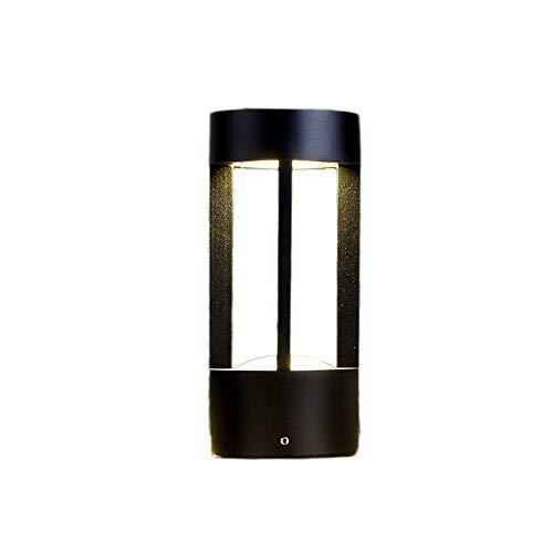 Lámpara de pie cuadrada europea Aluminio de fundición a presión LED Cortina de jardín al aire libre Plataforma de paisaje de la comunidad Patio Vía Exterior Poste Pilar Luz de la linterna Impermeable