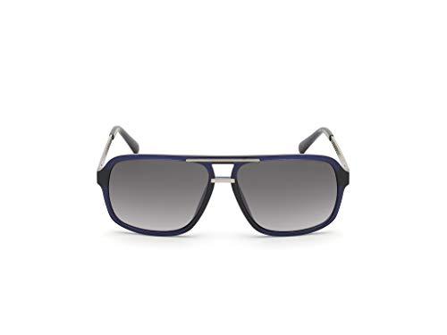 Guess gafas de sol GU6955 90B gafas de sol de los Hombres Azules de la lente del humo, el tamaño de 59 mm