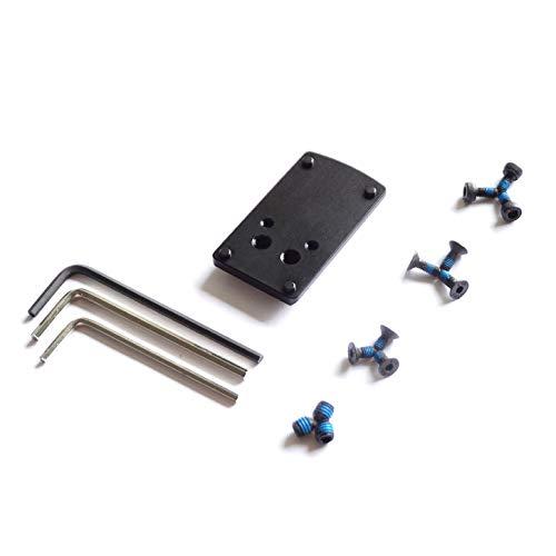 DPP Titanium Rear Sight Dovetail Mount/Mounting Plate/Adapter Compatible with Glock Vortex Venom & Viper, Burris Fastfire, Docter (Aluminum Blakc anodizing)