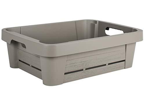 EDA Caisse DE Rangement WOOD'BOX 25 litres Couleur Taupe
