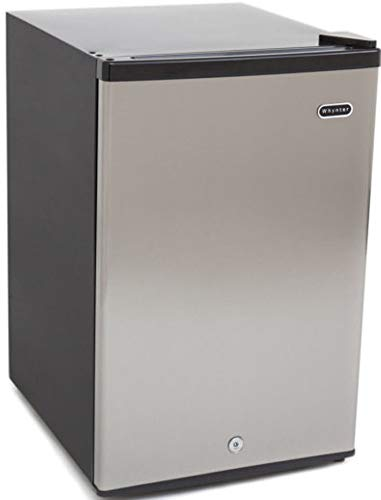 Whynter CUF-210SS Energy Star 2.1 cu. ft. Stainless Steel Upright Lock Compact best undercounter refrigerator freezer