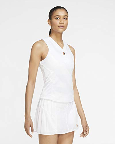 Nike Damen Court Dri-Fit Slam Tanktop, White, L