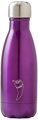 Chillys Bottles Double-Walled Reusable Bottle - Purple, 0.26 Litre by Chilly's Bottles