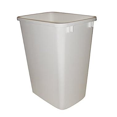 Rev-A-Shelf Replacement Waste Bin White-35 Quart