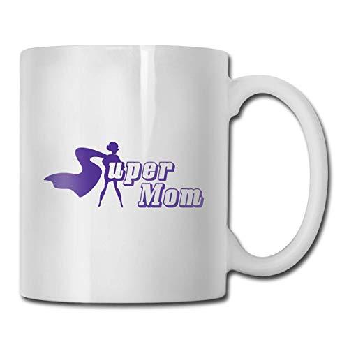 Taza de Super Mom, taza de café para bebidas calientes, taza de gres, taza de café de cerámica, taza de té de 11 oz, regalo divertido, taza de té y café