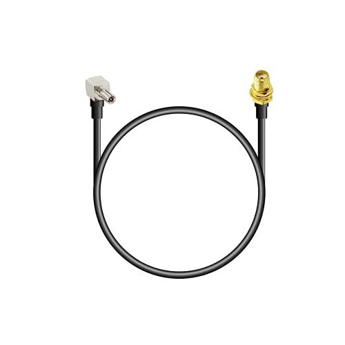 Vecys 4G Antenne Kabel SMA zu TS9 Kabel SMA Buchse Schott an TS9 Stecker rechtwinklig 2G 3G 4G Antennenrouter Verlängerungskabel 30 cm RG174