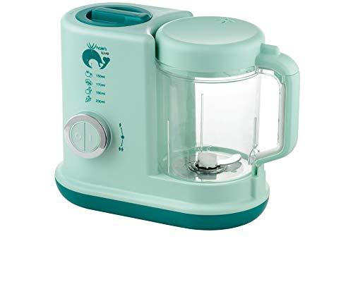 WHALELOVE Baby Food Blender Processor 4 in 1 Food Maker Steamer Warmer for Baby Infants Toddlers Puree Food Mill, BPA Free