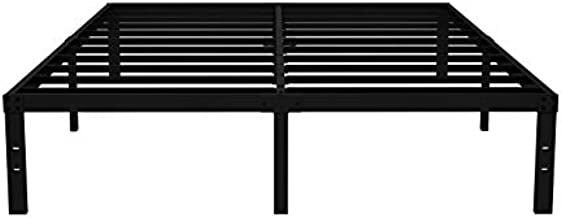 COMASACH 16 inch California King Bed Frame No Box Spring Needed, 3500 lbs Heavy Duty Metal Platform Bed Frames, Non-Slip and Noise-Free Mattress Foundation, Black