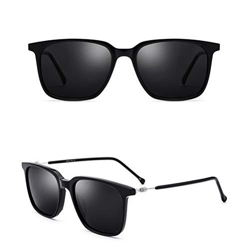 Gafas de sol de moda para hombres y mujeres, polarizadas, marco grande, cuadradas, reflectantes, gafas de conducción superligeras