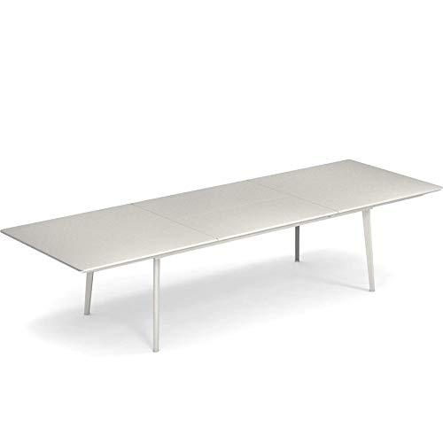 emu 479 Round Gartentisch ausziehbar 100x160cm, hellgrau lackiert ausziehbar auf 214 und 268 cm