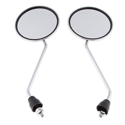 Lounayy 1 Paar Verchromte Runde Rückspiegel Für Basic Mode Motorroller 8Mm Sale Coole Sachen (Color : Colour)