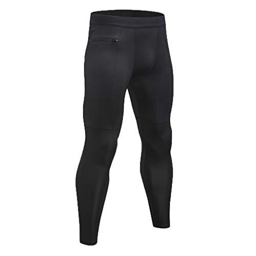Zarupeng heren lange sportbroek ademend compressie fitness yoga broek loopbroek skinny lange onderbroek panty leggings