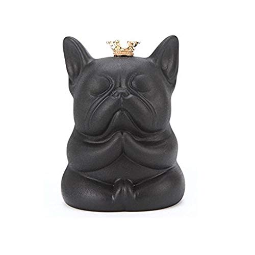 Frenchie French Bulldog Handmade Super Cute Zen Sitting Figurines Ornament Statue (Black)