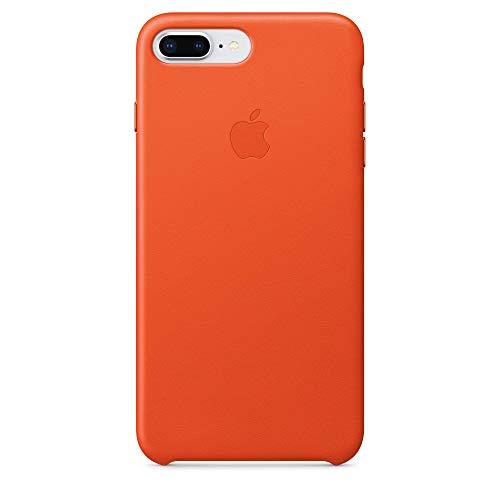 Apple iPhone 7/8 Plus Lederhülle, Hellorange