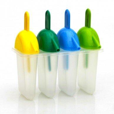 Coner 4 stks holtes siliconen vriezer ijs schimmel candy bar maken tool sap popsicle mallen lolly lade ijsblokjesmaker, b
