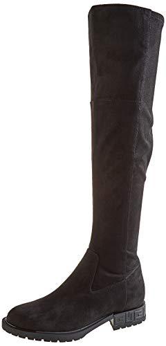 Guess RANIELE3/STIVALE (Boot)/Fabric, Botte au-Dessus du Genou Femme, Noir, 37 EU