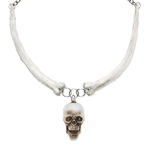 WIDMANN Sancto Disfraz de halloween cráneo adultos, talla única
