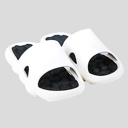 Badslipper Antislip Sandal Home, Herenmassageslippers met zachte zolen voor binnenshuis, antislip badsandalen voor de badkamer-39-40_white, House Mule Soft Foams Sole