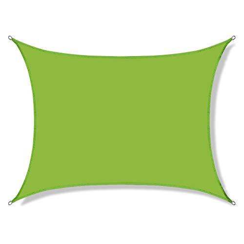 ZHML Toldo Vela de Sombra Impermeable Rectangular, 95% Protección Rayos UV,con Accesorios de Montaje,para Patio Jardín Pérgola Patio Trasero,Tamaño de Color Opcional