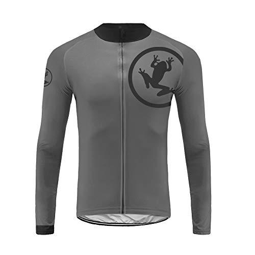 Uglyfrog Herren Langarm-Frühling Radtrikot Fahrradtrikot Fahrradbekleidung für Männer mit Elastische Atmungsaktive Schnell Trocknen Stoff