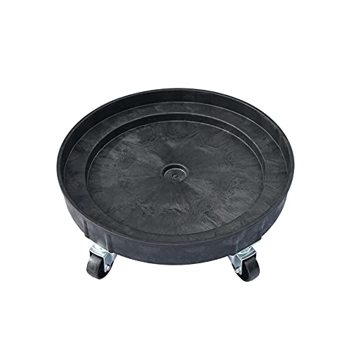 30 Gallon and 55 Gallon Heavy Duty Plastic Drum Dolly – Durable Plastic Drum Cart 900 lb. Capacity- Barrel Dolly with Swivel Casters Wheel,Black