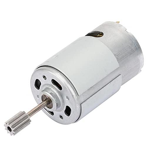 Motor eléctrico, motor micro de alta velocidad RS550 de alta resistencia para coche de juguete eléctrico DIY para cortacésped para coche de juguete (12V550-8000 vuelta, tipo torre inclinada de