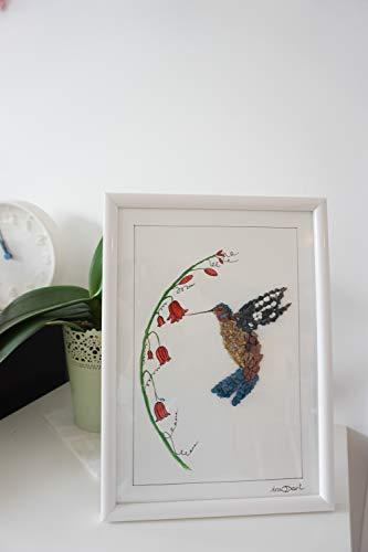 Kieselkunst - Fliegenvogel-Mosaikkunst Schöne geschenk-dekoration