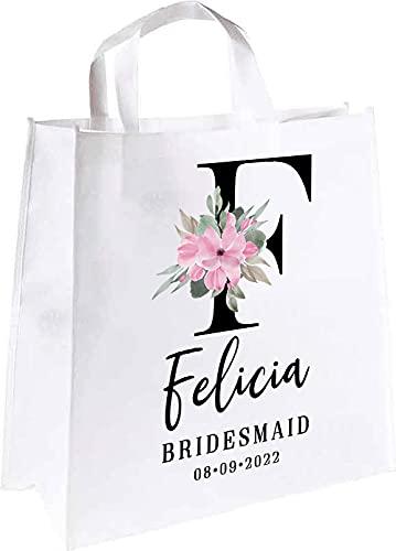 Letter Choice F Bridesmaid 4 years warranty Custom Bag Tote