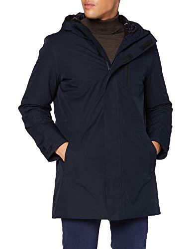 Geox M CLINTFORD Giacca da Pioggia, Blu Notte, 60 Uomo