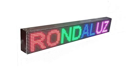 Cartel LED programable para tu negocio (96 * 16 cm, RGB) / Letrero luminoso para exterior e interior/Las mejores pantallas LED electrónicas/Rótulos programables/LED display
