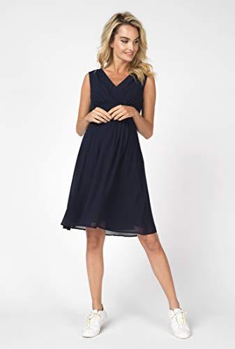 Noppies Damska sukienka ciążowa 70459, dekolt w serek Comfort Fit (inne kolory), niebieski (Dark Blue 46), 36 PL