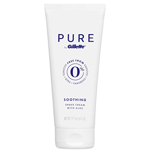 Pure by Gillette, Soothing Shave Cream with Aloe, 177 mL