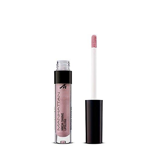 Manhattan High Shine Lipgloss, Glänzender Lipgloss für intensiv schimmerndes Finish auf den Lippen, Farbe 52N, 1 x 3ml