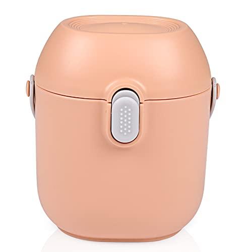 Milk Powder Dispenser, Comius Sharp Contenitore per Latte in Polvere da Viaggio, Contenitore Portatile per Latte in Polvere, Contenitore per Latte Artificiale con Cucchiaio per Polvere Formula (Rosa)