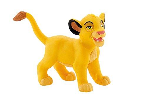 Bullyland 12254 - Spielfigur, Walt Disney König der Löwen - Junger Simba, ca. 4,6 cm groß, liebevoll handbemalte Figur, PVC-frei, tolles Geschenk für Jungen und Mädchen zum fantasievollen Spielen