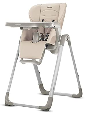 Inglesina MyTime Baby High Chair - Removable Tray, Easy-Clean Foldable High Chair - Butter Color