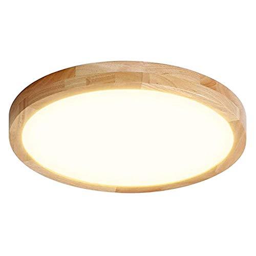CDwxqBB Plafones LED De Madera Maciza, Plafones Empotrados Ultrafinos Modernos De 5 Cm, Plafones De Roble, Plafones para Baños, Plafones para Dormitorios Y Salas De Estar,Warm Light,30cm