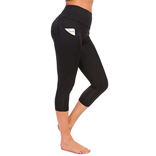 TUPARKA Mallas Pantalones Deportivos Leggings Mujer con bolsillos, Running Fitness cintura alta Medias Pantalones de yoga elásticos Control de barriga Gimnasio Deportes para mujeres