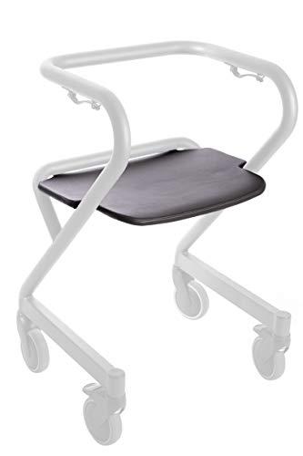 Ergo Sitzbrett für Stuben Rollator PAGE, Zubehör, abwischbar, klappbar, braun, Kunstleder