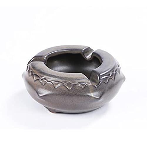 YANGYUE Ish Dragon Ash Tray Tea Pet Sala de Estar Escritorio Escritorio de Oficina Bandeja de Almacenamiento de Cenizas Caja Cenicero de cerámica Creativo Decoración del hogar