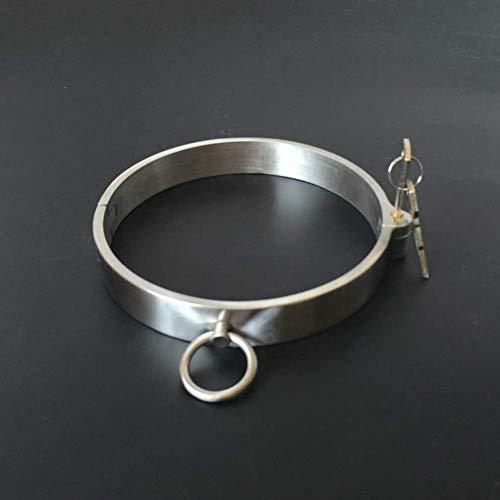 SM Metall Halsband Handschellen Für Bondage Rostfreier Stahl Sex Bondage Set, Sexy Sklavenwerkzeug Für Erwachsene Handschellen Spielspielzeug Für Paare