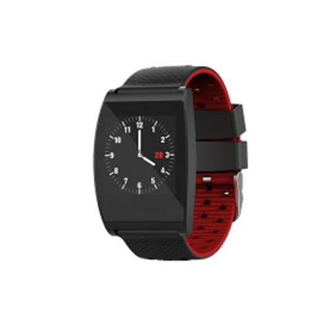 CMYY Fashion Smart horloge stappentellers fitness armband met hartslag monitor Waterdichte Horloge met Slaap Monitor Sport Watchbandsfor kids Oude man Vrouwen Mannen, size, Rood