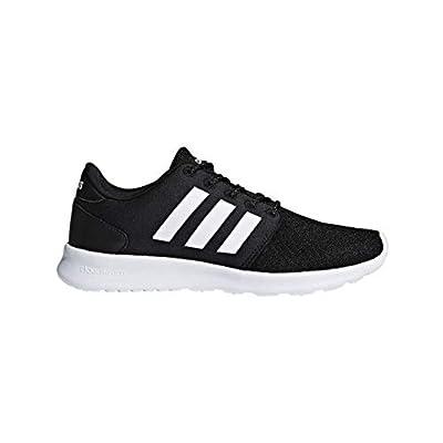 adidas Women's Cloudfoam QT Racer Sneaker, Black/White/Carbon, 7.5 M US
