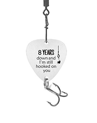 8th Wedding Anniversary Fishing Lure Gifts for Men 8 Year for Him 8th Year...