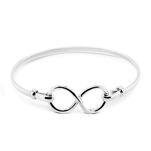 SILVER MINE Women's Silver Infinity Sterling Silver .925 Bangle