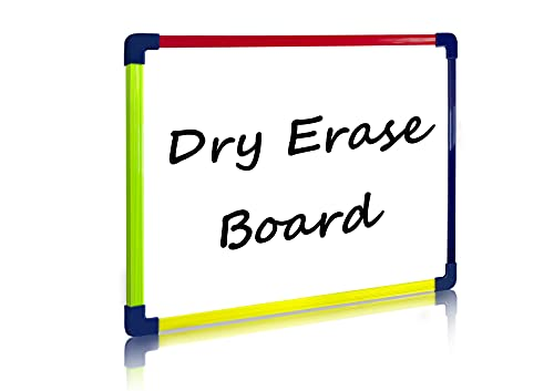 Scribbledo Colored Frame Magnetic Dry Erase White Board 9' X 12' Whiteboard